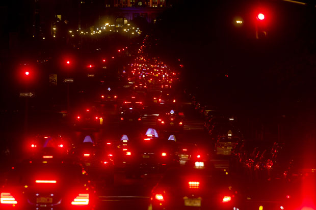 Flash LEDs to make self driving cars safe?