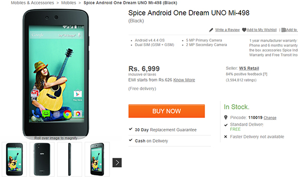 The New Android One  Released by Micromax on 15th September