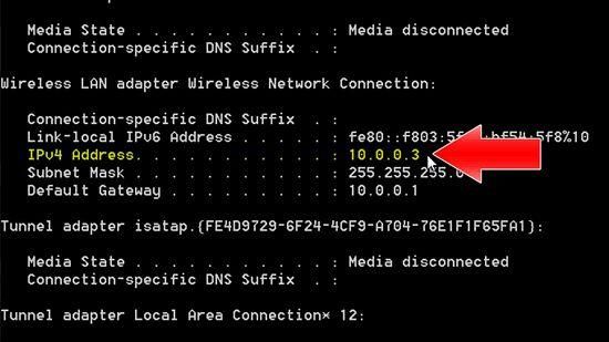 IP address  1