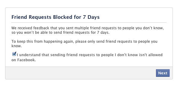 Send FB Friend Request Even After Getting Blocked