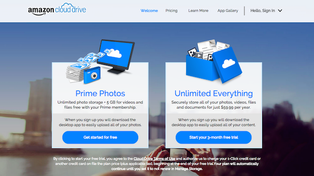 Amazon Offers Unlimited Cloud Storage, Cheap