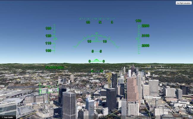 Google Earth Flight Simulator - Tech Lasers