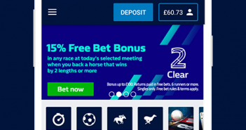 William Hill Betting apps in android and iOS